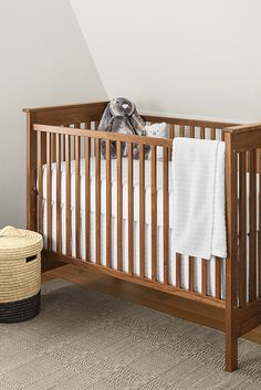 Inspired by Arts & Crafts style, the Nest crib is built by one of the few remaining U.S. family-owned crib makers.