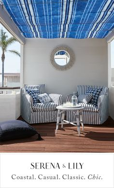 Sophisticated looks inspired by the sea. Find your spot in the sun today. Decor, House Design, House, Outdoor Rooms, Living Spaces, Beautiful Outdoor Furniture, Home Decor, Outdoor Sofa, Interior Design