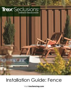 Become a Trex Fencing Professional Trex Fencing, Composite Fencing, Fences, Patio Fence, Backyard Paradise, Outdoor Chairs, Outdoor Decor, Wood Vinyl, Before And After Pictures