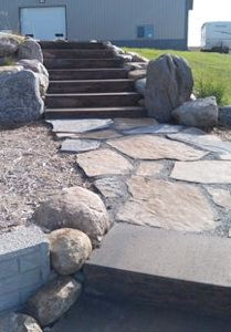 flagstone. boulders.perfection. Outside Room, Outside Living, Front Porch Railings, Outdoor Kitchens, Flagstone, Bouldering, Stepping Stones, The Outsiders, Sidewalk