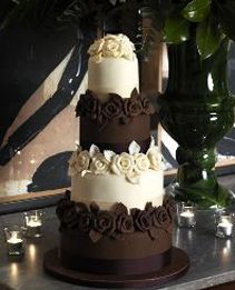 Im Loving This Whole Half And Cake Concept Maybe Put Some Chocolate White Wedding