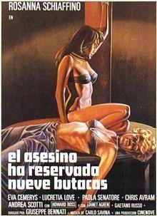 "The Killer Has Reserved Nine Seats (Giuseppe Benati, 1974,""El Asesino Ha Reservada Nueve Butacas"")"