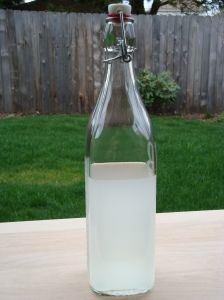 Bottled coconut liqueur