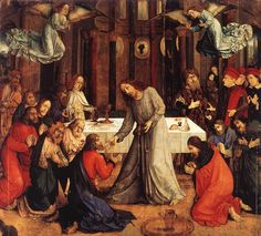 Joos van Gent  The Institution of the Eucharist  1473-75  Galleria Nazionale delle Marche, Urbino