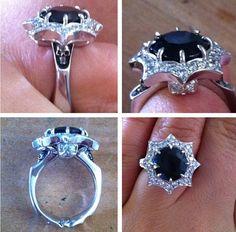Unique engagement ring, love it