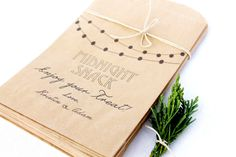 25 Customized Wedding Candy Bar Bags with Midnight Snack Detail, Wedding Favor Bags by Paracosm on Etsy