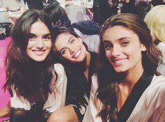 Blanca Padilla Sara Sampaio and Taylor Hill backstage  Victoria's Secret Fashion Show 2014 London VSFS VS VSfashionshow