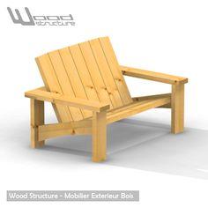 Banc Douglas - Salon de Jardin - Wood Structure Shop   pallets ...