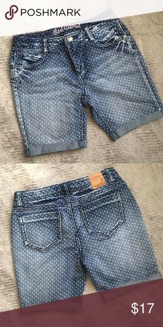 Red Camel Premium Denim Shorts Distressed denim polka dot shorts. Perfect condition. No rips, stains, tears, holes or pilling. Red Camel Bottoms Shorts