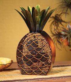 Deco Breeze DBF0375 Pineapple Figurine Decorative Electric Fan
