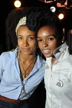 These two ladies are fiercely talented and gorgeous with minimal makeup and natural hair:  Esperanza and Janelle Monae.