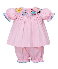 Take a look at this Pink Wizard of Oz Bishop Tunic & Bloomers - Infant by Petite Palace on #zulily today!