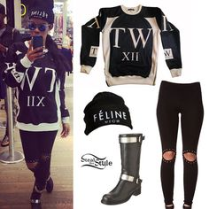 #Her hat says feline but her style says Fashion Killa!!! #TeyanaTaylor