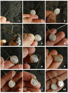 This jewelry making tutorial shows you how to make Herringbone weave wire wrapping and its two variations. jewelry making how to make herringbone weave wire wrapped earrings Bijoux Wire Wrap, Wire Wrapped Earrings, Wire Wrapped Pendant, Wire Jewelry Designs, Jewelry Making Tutorials, Jewlery Making For Beginners, Wirework Jewelry Tutorials, Handmade Jewelry Tutorials, Handmade Wire Jewelry