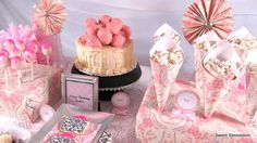 birthday dessert buffet twenty five - damask wrapping paper