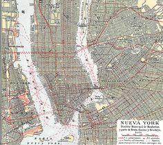 Vintage New York Ciy Plan