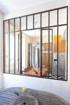 verri re ouvrante coulissante cuisine et sejour pinterest verri re panneau et int rieur. Black Bedroom Furniture Sets. Home Design Ideas