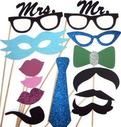 Wedding Photo Booth / Photo Booth Props / Birthday http://www.foamyfactory.etsy.com