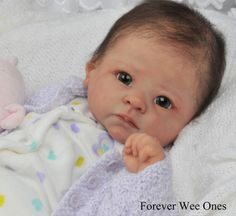 Forever Wee Ones~ Beautiful Reborn baby ~ mottled complexion~fake baby | eBay