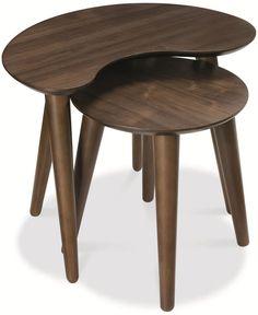 Bentley Designs Oslo Walnut Nest of Lamp Table