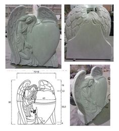 Hunan White mable monument with CAD drawing. Send email to me freely for any needs.