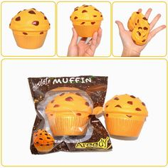 Areedy Squishy Jumbo Chocolate Muffin Cake Slow Rising Original Packaging Scented Collection Gift