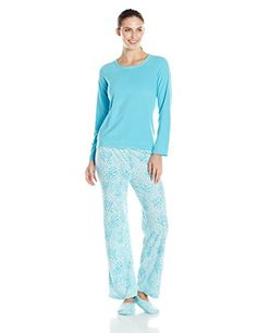 bcca052bc4 Goodnight Kiss Women s 3 Piece Pajama Set with Snoozie Sl... http