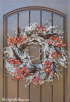 Fall Wreath - Wreath Blog Hop - The Lilypad Cottage