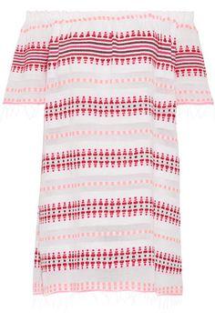 LemLem - Tabtab Off-the-shoulder Striped Cotton-blend Gauze Mini Dress - White -