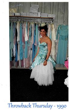 Trying on Bridesmaid's Gowns @www.frankbernardltd.com in 1990 #tbt
