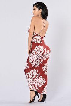 Dress To Impress Dress - Burgundy