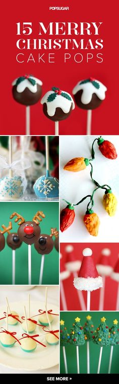 If your holiday happenings would be made merrier with the addition of Christmas-themed cake pops, you've come to the right place. Christmas Themed Cake, Christmas Cake Pops, Christmas Deserts, Christmas Holiday, Winter Desserts, Holiday Desserts, Holiday Baking, Holiday Treats, Cake Pop Designs
