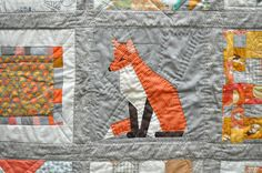 Paper Pieced Fox by Katrina by the workroom, via Flickr
