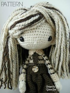 Luisa  Amigurumi Doll Crochet Pattern PDF by CarmenRent on Etsy ♡