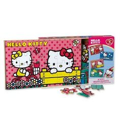 Hello Kitty 4 Wood Puzzles In Wooden Storage Box  http://www.amazon.com/Hello-Kitty-Puzzles-Wooden-Storage/dp/B004K9T8SM/ref=sr_1_6?m=A2TYI3UBDWT8M3&s=merchant-items&ie=UTF8&qid=1384538826&sr=1-6