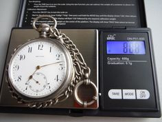 Running Zenith Silver Chain & Case Pocket Watch - No Reserve ! Pendant Watch, Pocket Watches, Luxury Watches, Cool Watches, Clocks, Running, Chain, Silver, Accessories
