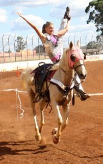 Mikayla Barber:  Trick Riding and Liberty Horse Performing #equestrian
