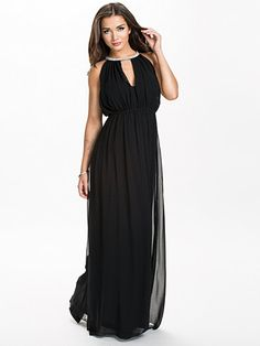 Necklace Long Dress - Nly Eve - Musta - Juhlamekot - Vaatteet - Nainen - Nelly.com