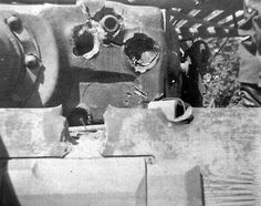 A Tiger 1 turret that survived quite a pounding by enemy tank fire