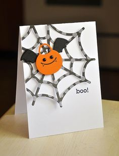 Boo! Card by Maile Belles for Papertrey Ink (August 2012)