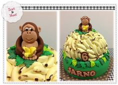 Aap & Banaan & Taart...  Monkey & Banana & Cake...