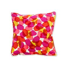 Pre-Owned Petal Print Pillow (10.100 RUB) ❤ liked on Polyvore featuring home, home decor, throw pillows, flower throw pillow and flower stem