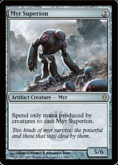 Myr-Superion-x4-Magic-the-Gathering-4x-New-Phyrexia-mtg-rare-card-lot-NM