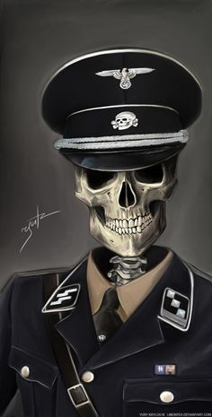 SKULLS - SS Soldier by *LimonTea on deviantART