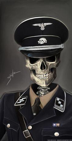 SKULLS - SS Soldier by *LimonTea on deviantART