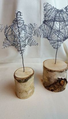 DIY wire stars as table decorations- DIY wire figures (stars) as table decorations – handicraft girls