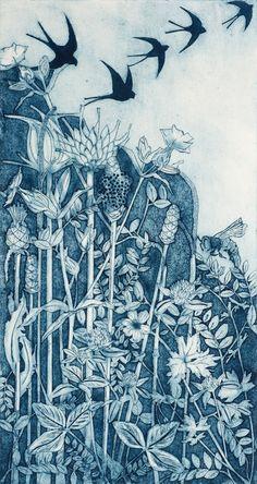 Collagraph Printmaking, Monoprint Artists, Art Inspo, Linocut Prints, Art Prints, Love Wall Art, Ouvrages D'art, Art Et Illustration, Bird Art
