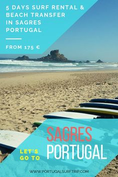 5 DAYS SURF RENTAL & BEACH TRANSFER IN SAGRES   PORTUGAL what is included: 5 days of full & quality surf equipment rental   beach transfer to the best surf spot #sagres #portugal #surf #gear #rental #surfholiday #surfboard #wetsuit #beach #transfer #atlantic #ocean #surfing #waves #enjoy #portugalsurftrip Best Surfing Spots, Surf Gear, Surf Trip, Yoga Retreat, Atlantic Ocean, Surfboard, Wetsuit, Waves, Day