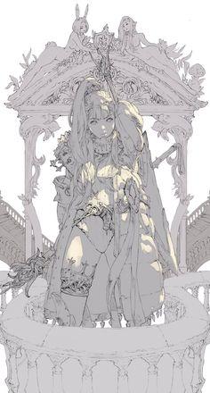 Art And Illustration, Fantasy Kunst, Fantasy Art, Art Sketches, Art Drawings, Concept Art Landscape, Poses References, Digital Painting Tutorials, Anime Kunst