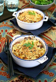 Food and Cook by trotamundos » CRUMBLE SALADA DE PATATAS, PERAS, CEBOLLA Y QUESO ROQUEFORT